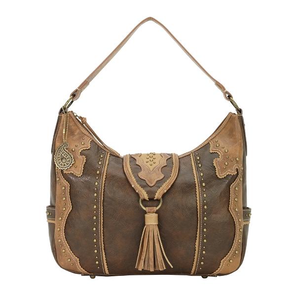 BANDANA Topeka Large Flap Hobo Style Handbag