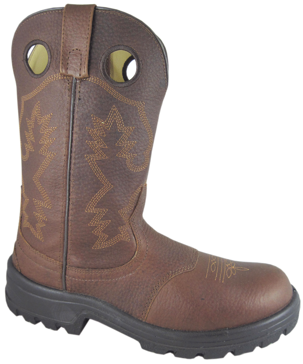 Smoky Mountain Men's Dillon Steel-Toe Leather Wellington Work Boot