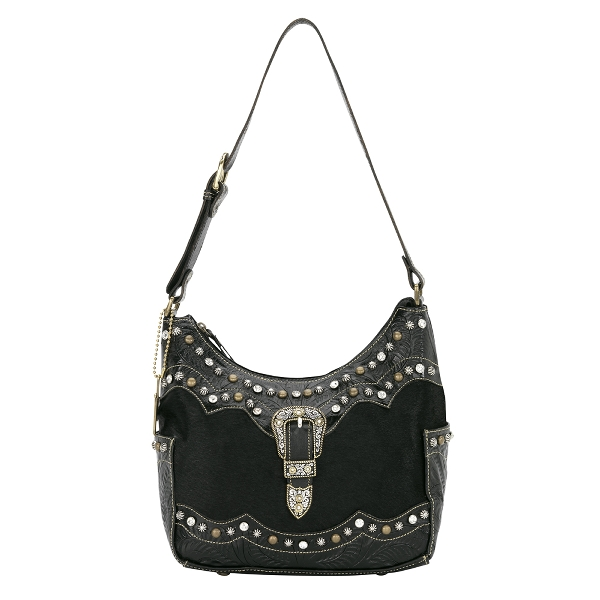 AMERICAN WEST Midnight Horizons Zip-Top Hobo Style Handbag