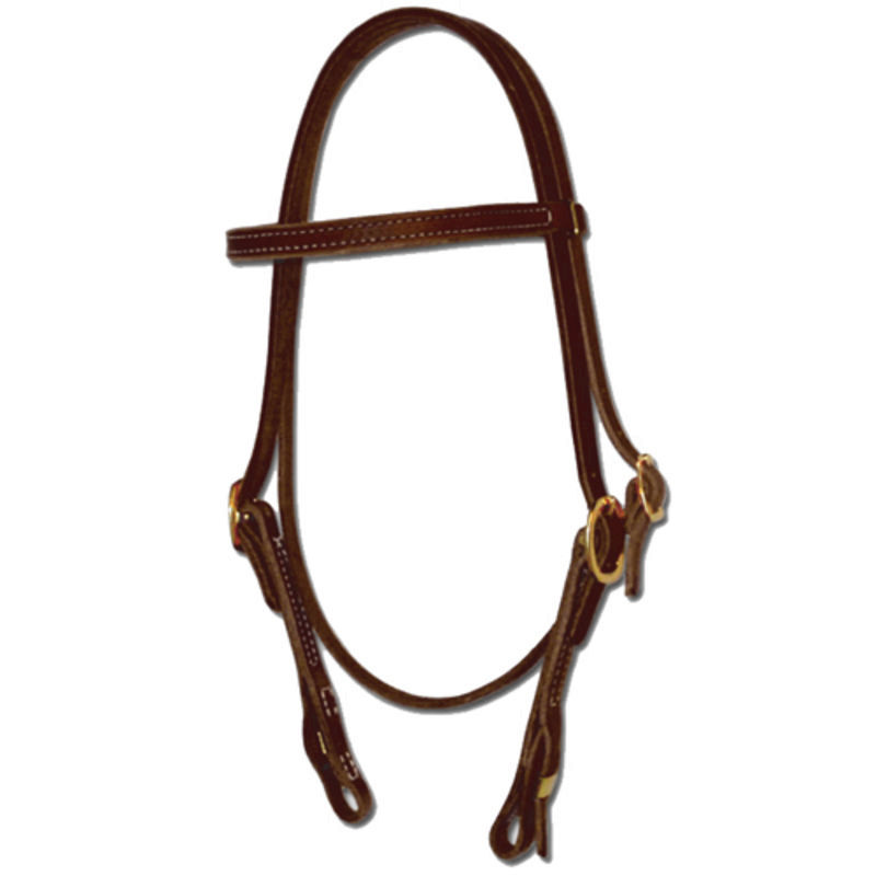 TORY LEATHER Quick Change Brow Band Headstall - Stainless Steel Loop Fasteners