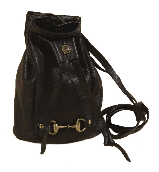 Tory Leather Mini Duffel Bag With Snaffle Bit