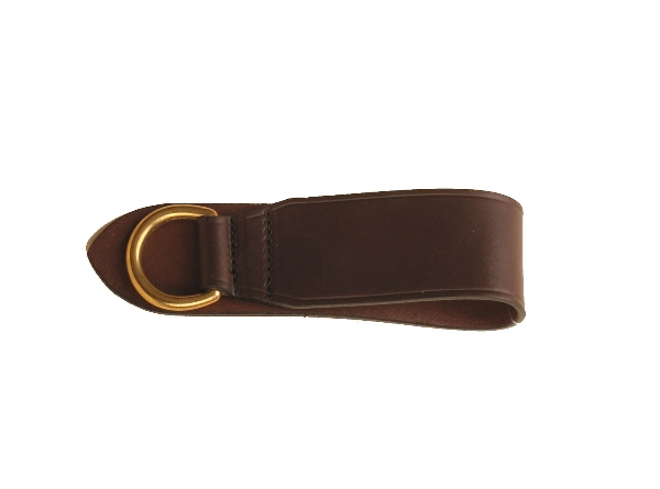 "TORY LEATHER 2"" Deluxe Girth Ring - Brass Dee"