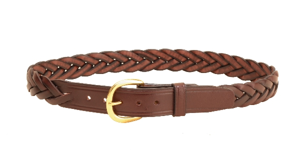"TORY LEATHER 1 1/4"" Braided Leather Belt"