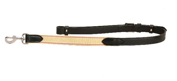 "TORY LEATHER 1"" Adjustable Leather & Elastic Side Rein"
