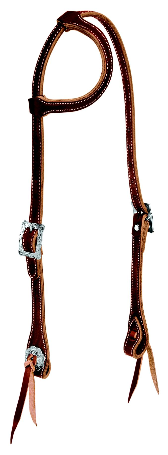 Weaver Leather Stockman Flat Sliding Ear Headstall
