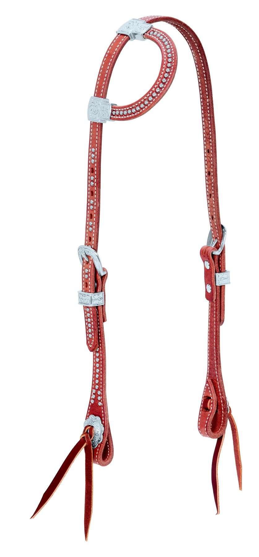 Weaver Leather Flat Sliding Ear Headstall With Spots
