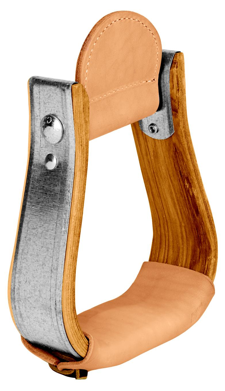 Weaver Leather Wooden Visalia Stirrup With Leather Treads