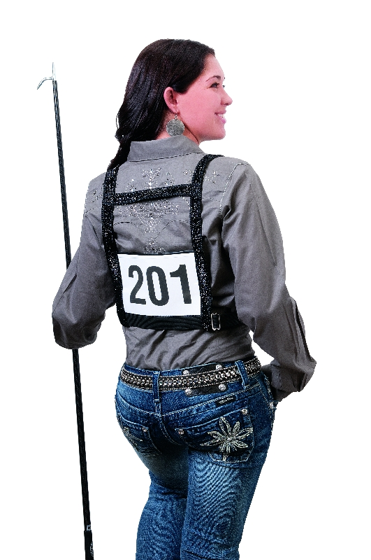 Weaver Leather's Exhibitor Number Harness with Sparkle Overlay