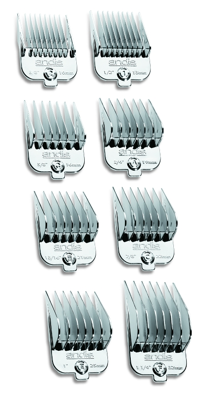 Weaver Leather's Chrome Magnetic 8-Piece Comb Set