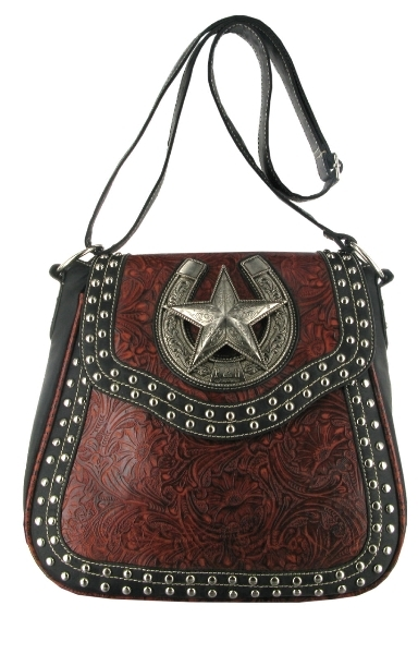 P & G Collection Star with Horseshoe Messenger Bag