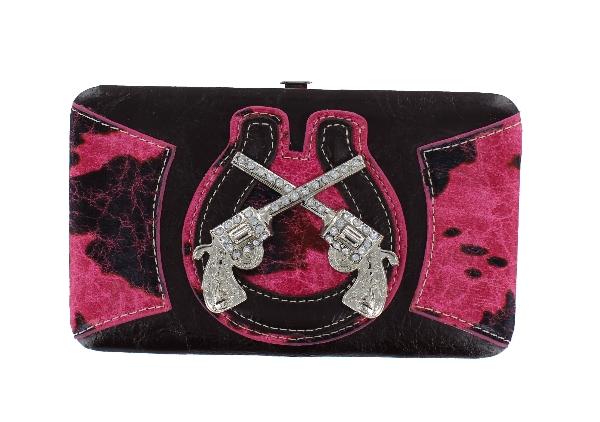 P & G Collection Double Gun Flat Wallet