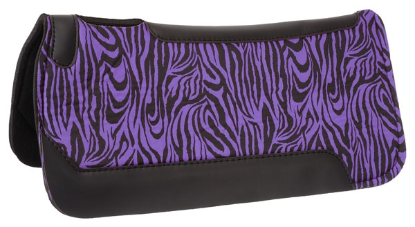 Tough-1 Felt Saddle Pad With Rubber Center in Prints