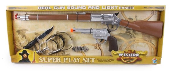 Gift Corral Riffle and Pistol Set with Spurs
