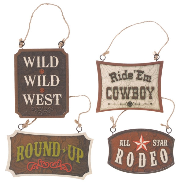 Gift Corral Western Signs Ornament