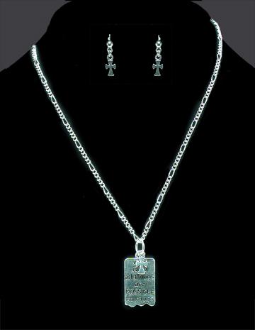 Mark 10:27 Necklace & Earrings Set