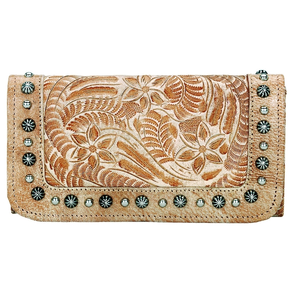 AMERICAN WEST Forget-Me-Not Ladies Tri-Fold Wallet