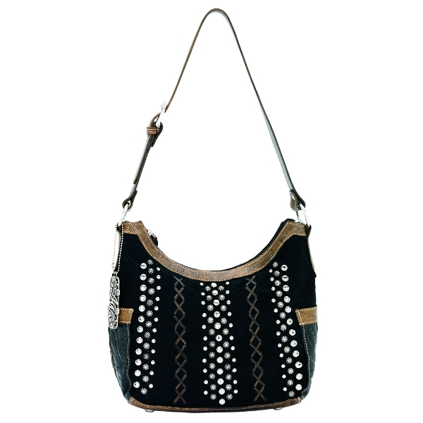 AMERICAN WEST River Rock Zip-Top Hobo Handbag