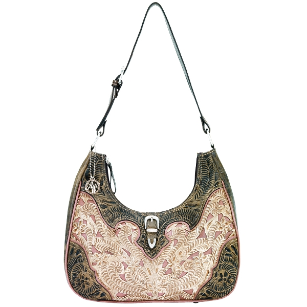 AMERICAN WEST Annie's Secret Scoop-Top Handbag