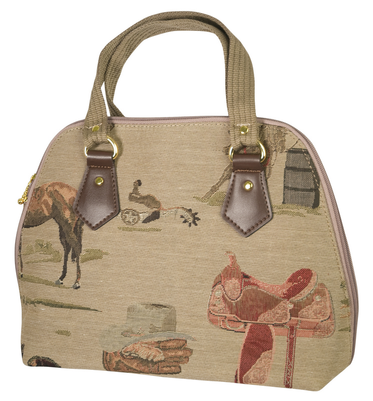 Western Tapestry Hand Bag