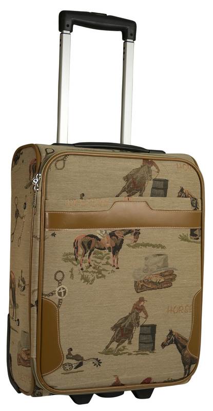 Western Tapestry Luggage Bag