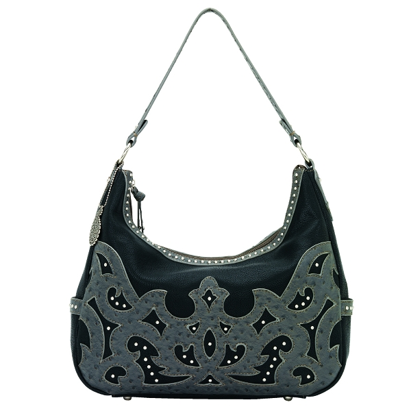 BANDANA Sugarland Large Zip Top Hobo Handbag