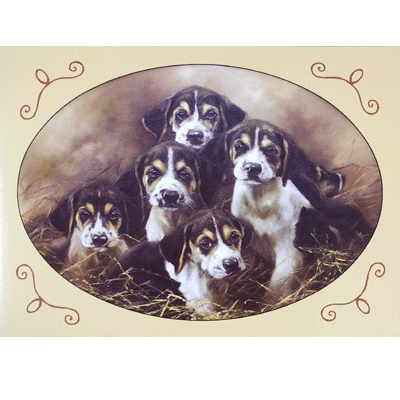 The Innocents (Beagles) Blank Greeting Cards - 6 Pack
