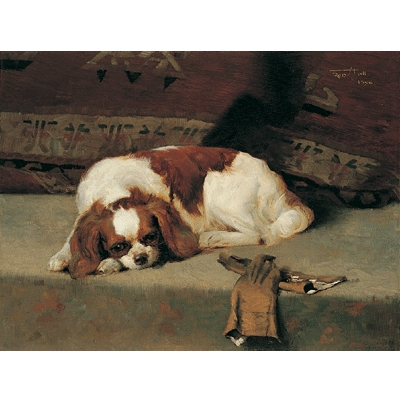 King Charles Spaniel Resting By: Fredrick Hall