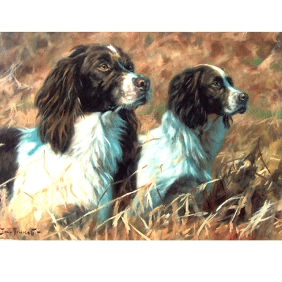 The Partnership (English Springer) Blank Greeting Cards - 6 Pack