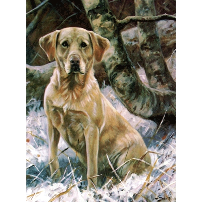 Yellow Lab (Labrador Retriever) Blank Greeting Cards - 6 Pack