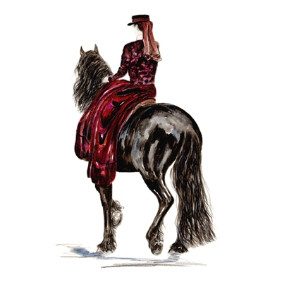 Mientje (Friesian Sidesaddle) By: Jan Kunster, Matted