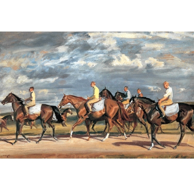 Exercising Early Morning Newmarket By: Alfred Munnings