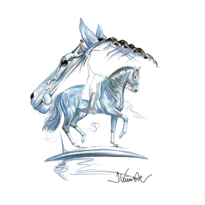 Blue Tango (Dressage) By: Jan Kunster, Matted
