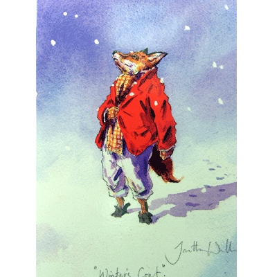 Winter's Coat Christmas Cards - 10 Pack