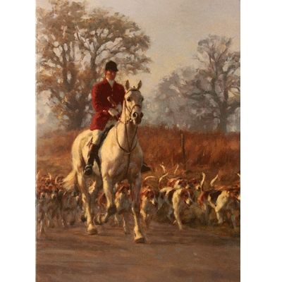 Moving Off (Fox Hunting) Blank Greeting Cards - 6 Pack