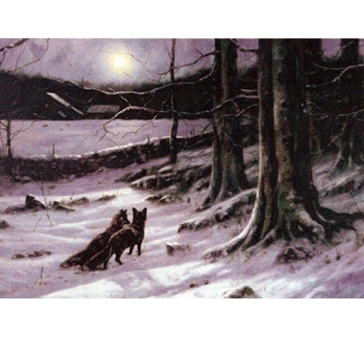 Midnite Tryst Christmas Cards - 10 Pack