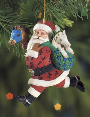 Breyer 2010 Strolling Santa Ornament