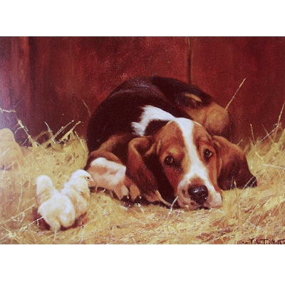 I'm Watching You (Basset Hound) Blank Greeting Cards - 6 Pack