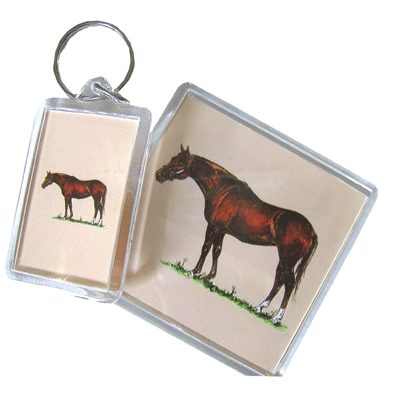 Acrylic Key Ring - Thoroughbred