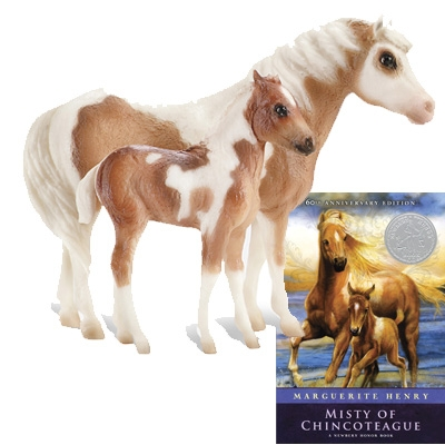 Breyer Traditional Series Misty & Stormy Model & Book Set