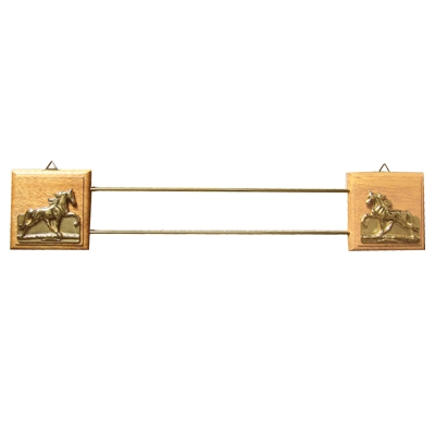 Wooden & Brass Ribbon Rack