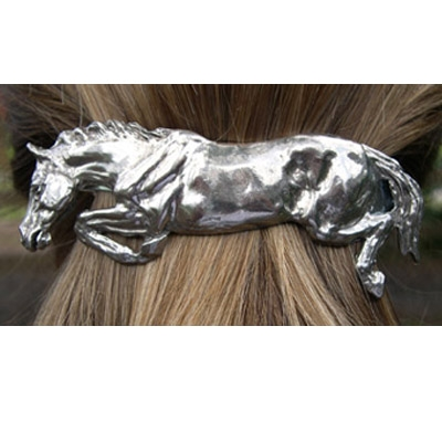 Jumping Horse Hair Clip Polished Finish