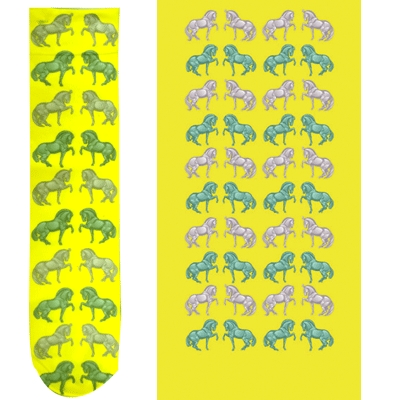 Intrepid Exclusive Horse Theme Socks - Yellow