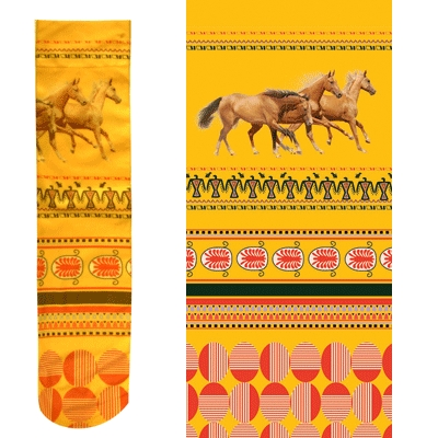 Intrepid Exclusive Horse Theme Socks - Southwest Yellow