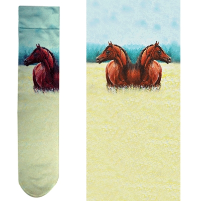 Intrepid Exclusive Horse Theme Socks - Free in Field