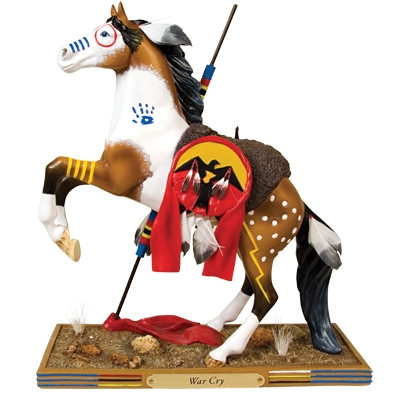 The Trail Of Painted Ponies - War Cry Pony Figurine