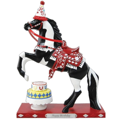 The Trail Of Painted Ponies - Happy Birthday Figurine