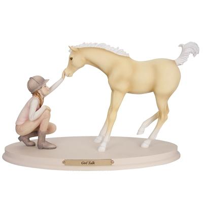 Horse Whispers Girl Talk Figurine