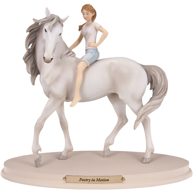 Horse Whispers Poetry in Motion Figurine