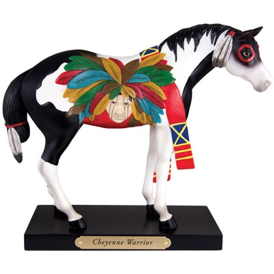 The Trail Of Painted Ponies - Cheyenne Warrior Figurine