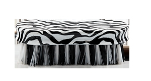 Lettia Collection Zebra Print Face Brush